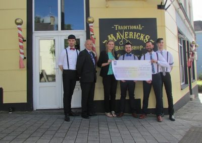 Mavericks Barbers fundraiser during recent Euros Soccer Competition.