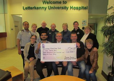 Damien Gamble and Railway Gym Committee present over €12,500