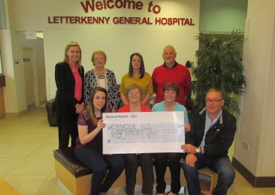 McLaughlin family from Clonmany donate proceeds from fundraising dance in 2016.