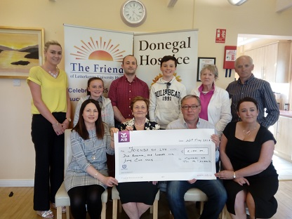Cheque presentation in memory of Mr Pat McLaughlin (Miller)